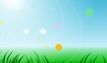 Summer light background. Flash animation