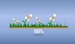 Flowers and grass preloader (5.5Kb)