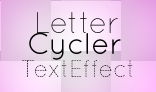 AS3 LetterCycler text effect