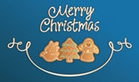 Merry Christmas Cookies Card Blue