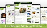 Deals Website - PSD Template