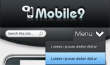 Mobile site PSD template