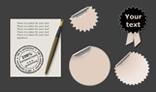 Empty stickers - set of elements
