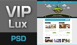 VIPLux - Modern and Creative PSD Template