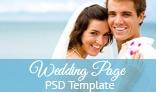 Wedding Website PSD Template