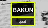 Bakun || Elegant and minimalist template