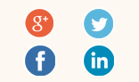 Flat style social logo