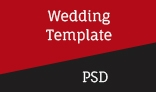Wedding Single Page PSD Template