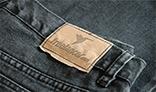 Realistic Jeans Logo Mockup