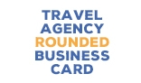 Travel Agency Rounded Business Card