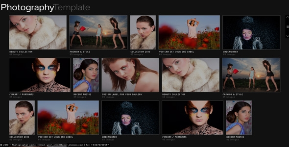 Web Template Flash Slideshow