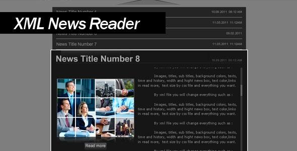 XML News Reader | 3D Flash files | Fantero