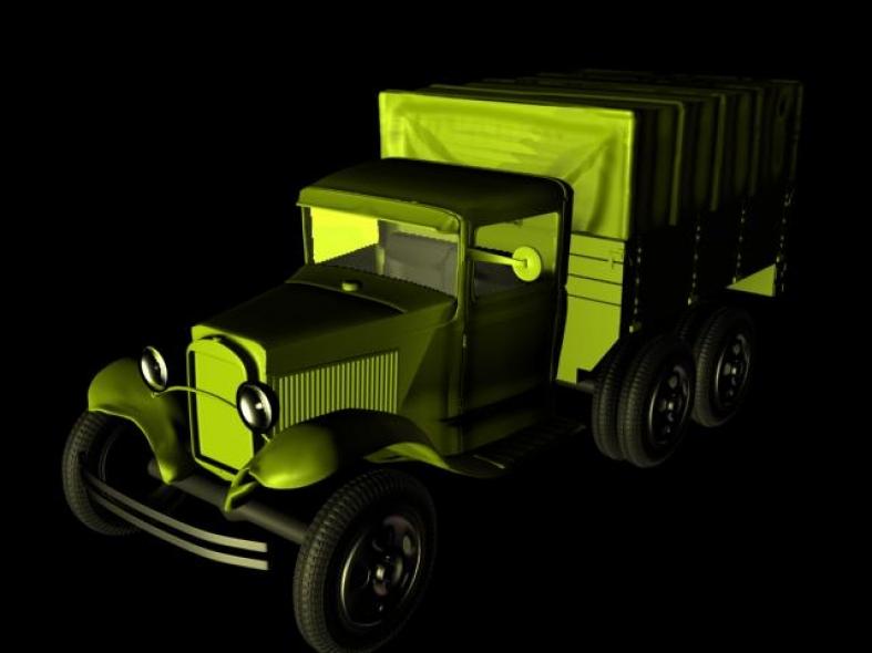 Russian WW2 GAZ-AAA 6x4 Truck