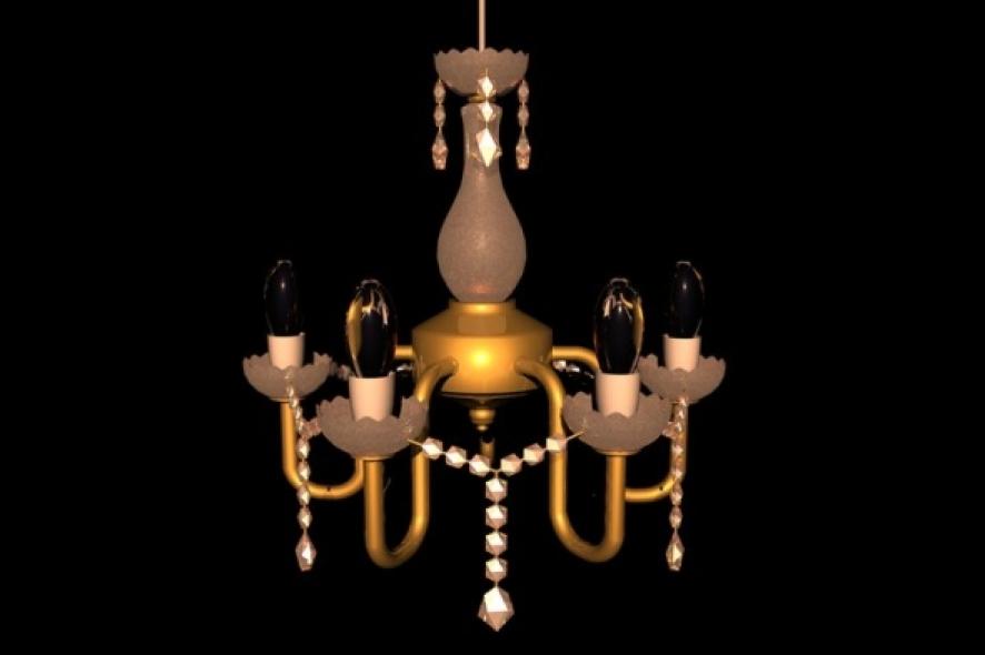 Crystal Chandelier(Gold)