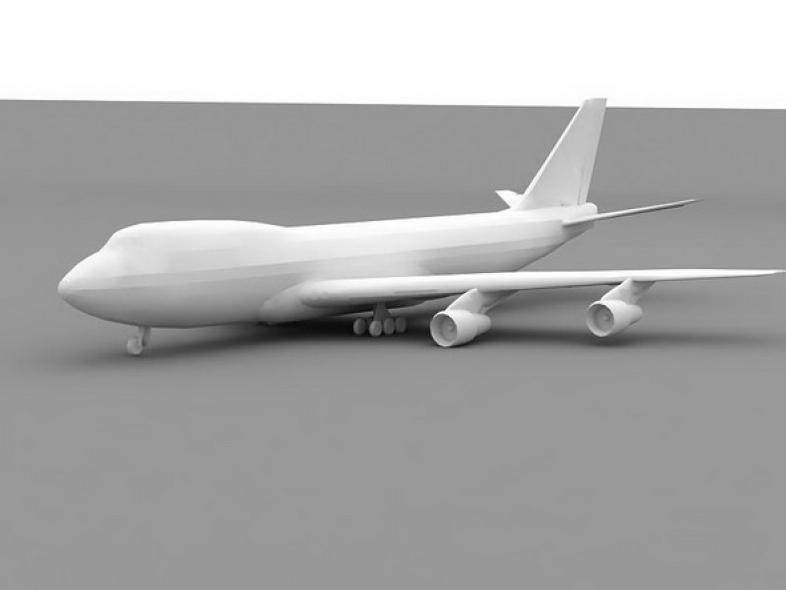 Boeing 747-400 no textures