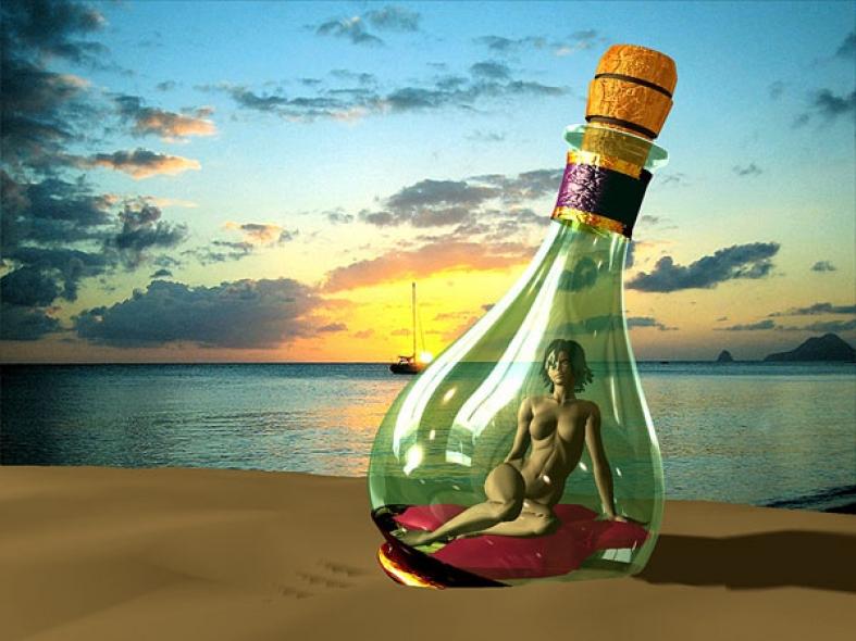 Girl in Bottle