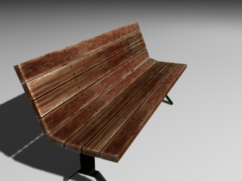 Street Bench (Game Model)