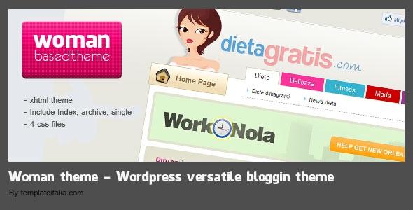 Woman blog XHTML theme