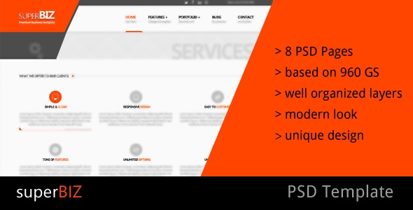 superBiz - Multipurpose PSD Template