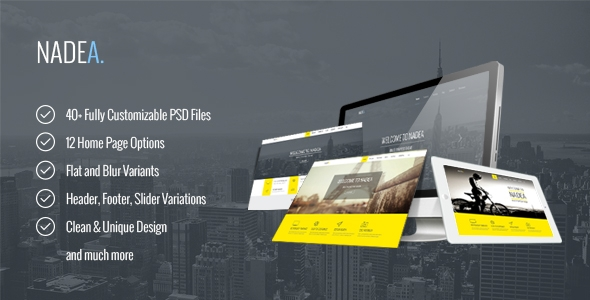 Nadea – Multipurpose PSD Template