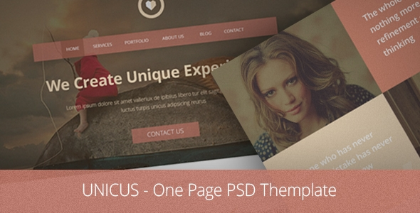 Unicus - One Page PSD Themplate