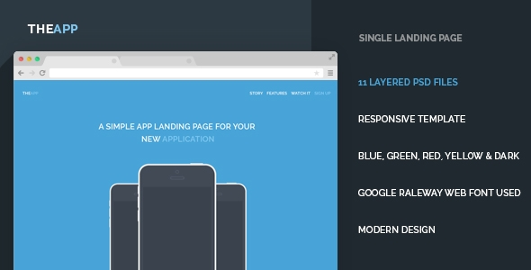 TheApp Landing Page