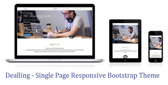 Dealling Responsive Multi Purpose One Page Theme