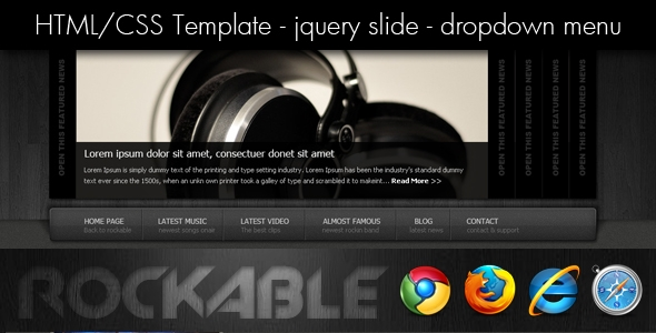 Rockable - Social Music HTML Theme