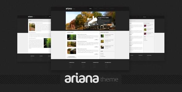 Ariana - Premium PSD Template
