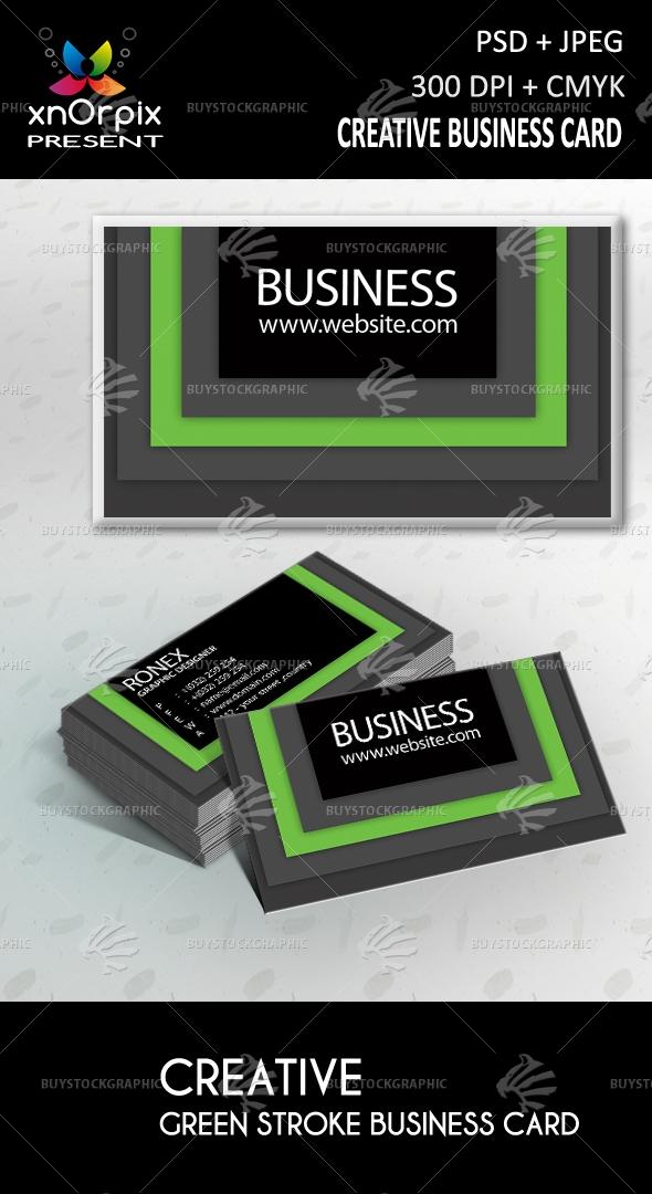 Green Stroke Business Card