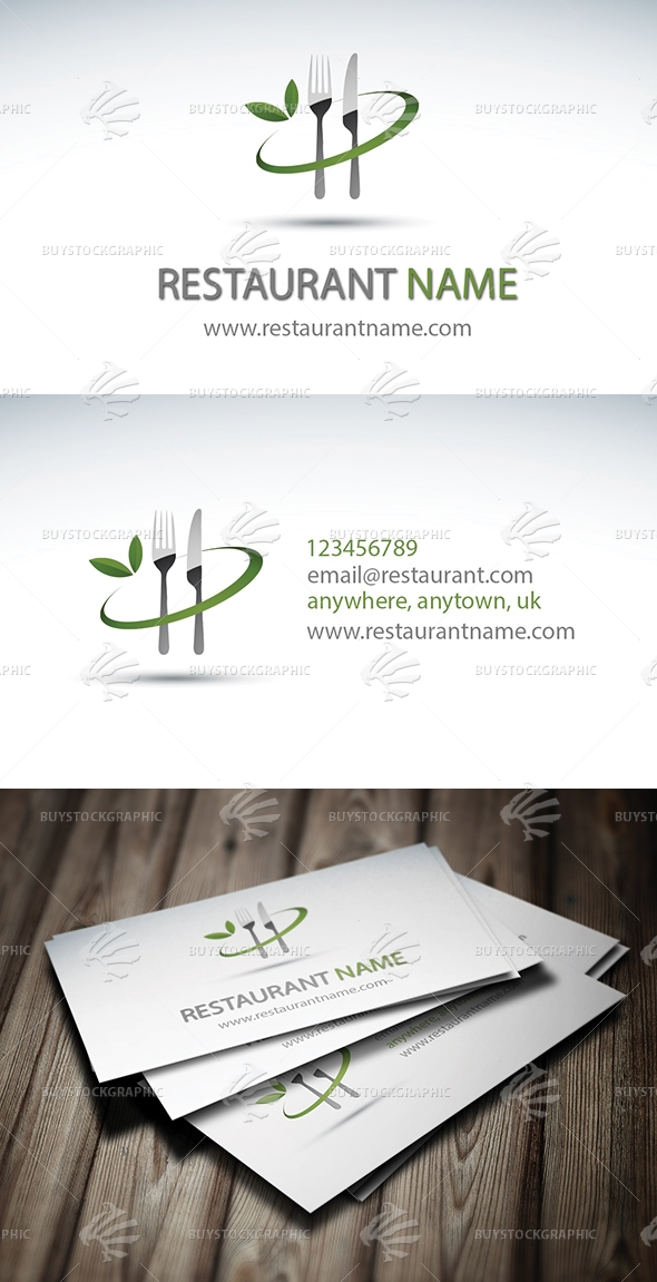 Modern Restaurant Business Card