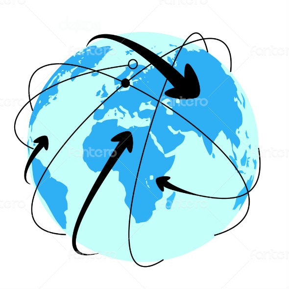 Global connections network, vector illustration