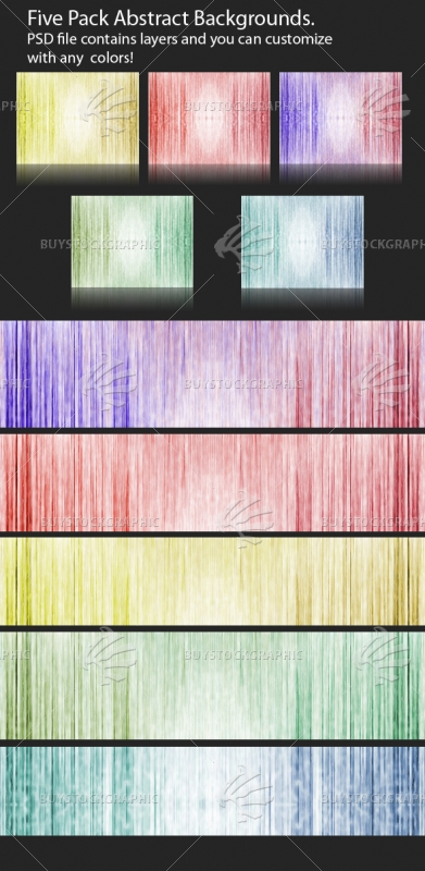 5 Pack Abstract Backgrounds