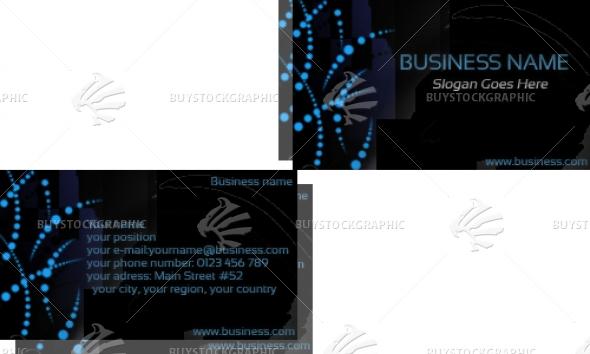 cyber blue dots