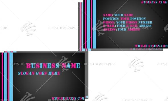 cyan & pink stripes