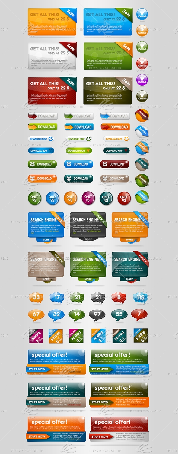 Web elements bundle set1