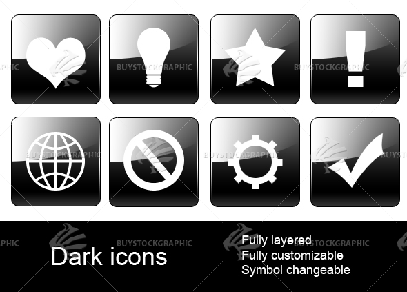 Dark web icons