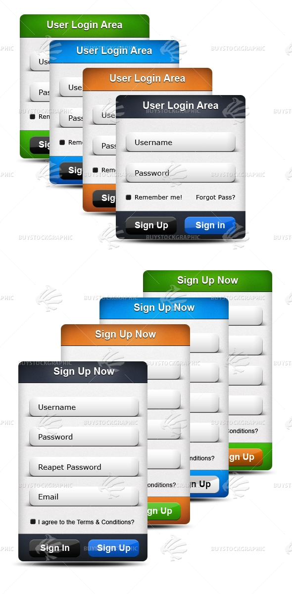 Clean Login & Sign up forms