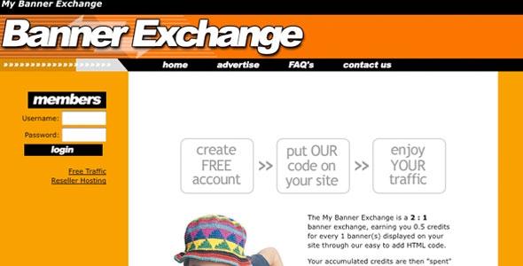 Banner exchange website script