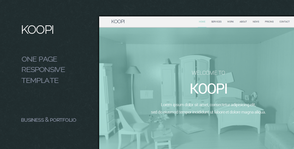 Koopi - One Page Flat Creative Bootstrap Theme