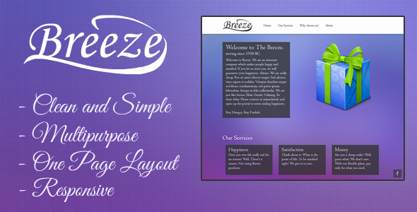 Breeze - Single Page Responsive website