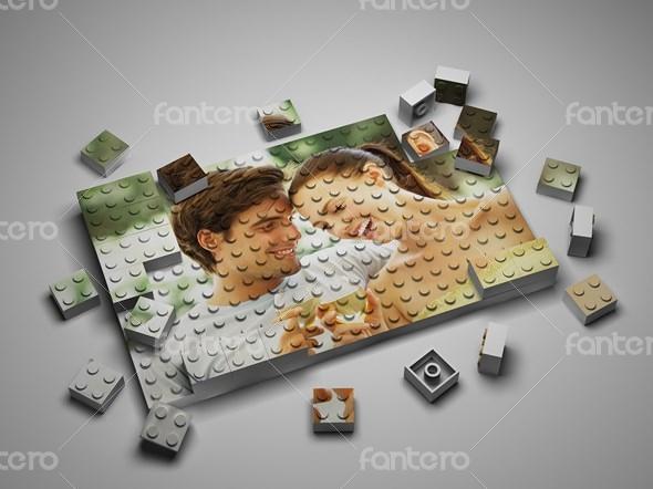 Amazing 3D Lego Effect