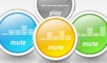3 Colors XML Music Buttons