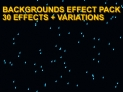 Background effects pack - 30 effects + variations - Amazing