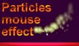 Particles mouse effect