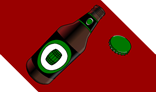 Beer Bottle and Bottle Cap