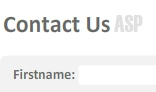 Flash ASP Contact Form