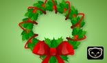 Christmas Garland With Bow