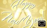 New Year Champagne Glass Webcard