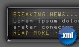 Flash XML News Ticker / Scroller Panel